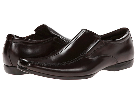 Steve Madden - P-Capone (Brown Leather) Men's Slip-on Dress Shoes