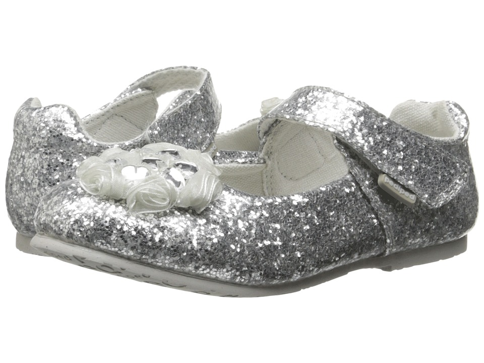 pediped - Delaney Flex (Toddler/Little Kid/Big Kid) (Silver) Girl's Shoes