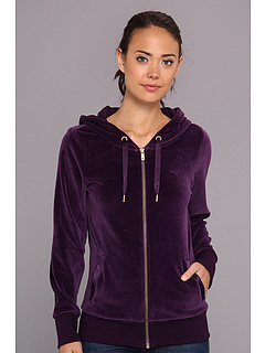 SALE! $39.99 - Save $20 on PUMA Velour Jacket (Blackberry Cordial) Apparel - 33.35% OFF $60.00