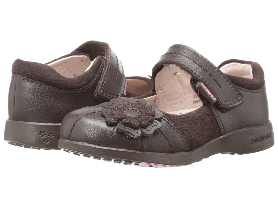 pediped - Sarah Flex (Toddler/Little Kid/Big Kid) (Chocolate) Girl's Shoes