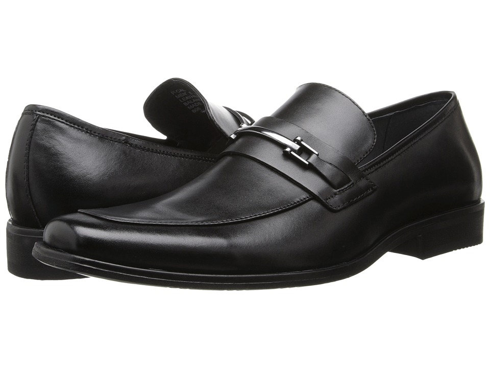Steve Madden - P-Cal (Black Leather) Men's Slip on Shoes