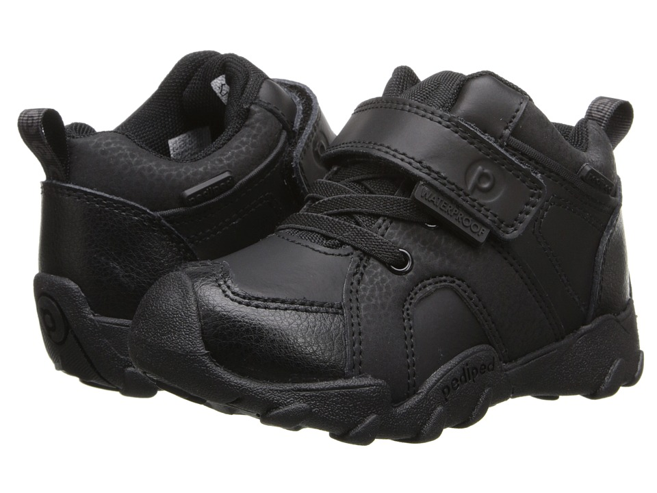 pediped - Justin Flex (Toddler/Little Kid/Big Kid) (Black) Boy's Shoes