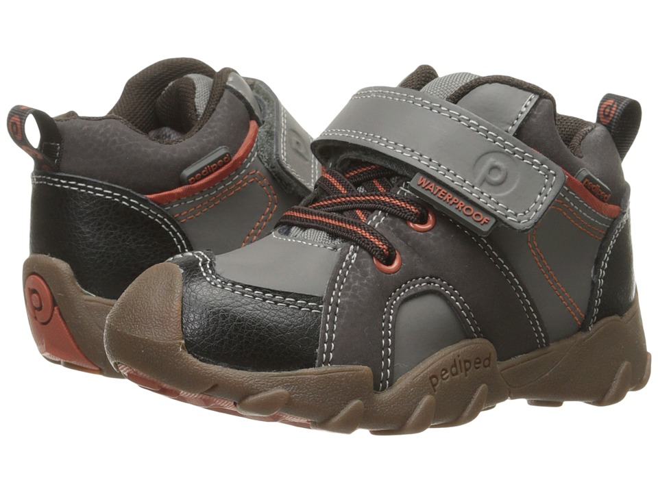 pediped - Justin Flex (Toddler/Little Kid/Big Kid) (Charcoal) Boy's Shoes