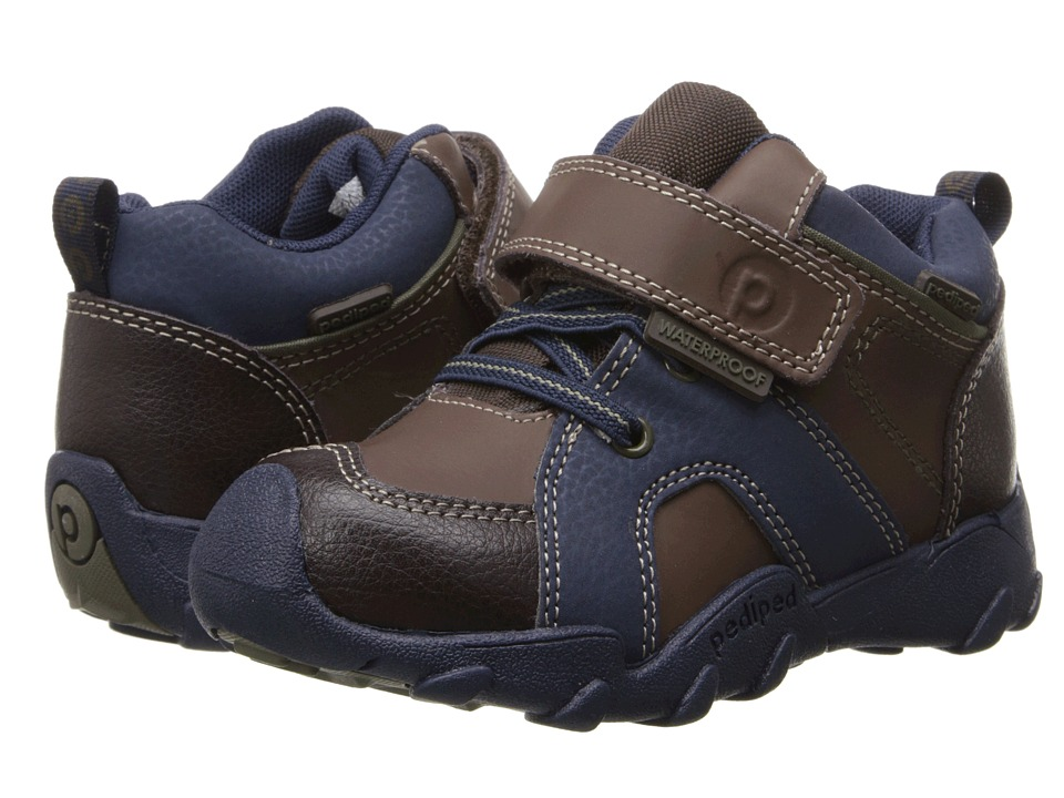 pediped - Justin Flex (Toddler/Little Kid/Big Kid) (Brown) Boy's Shoes