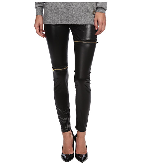 LOVE Moschino - Stretch Legging with Zips (Black) Women's Clothing