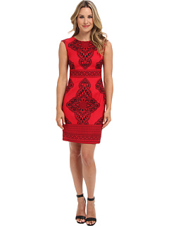 SALE! $39.99 - Save $49 on London Times Placement Print Sheath Dress (Red Black) Apparel - 55.07% OFF $89.00