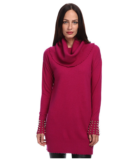 LOVE Moschino - Cowl Neck Knit Sweater (Magenta) Women