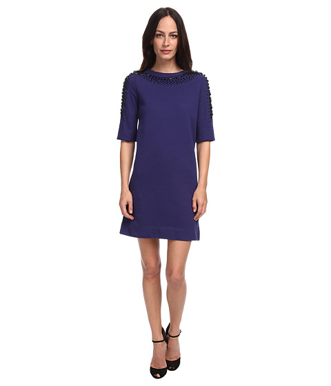 LOVE Moschino - Dress with Embellishing (Blue) Women