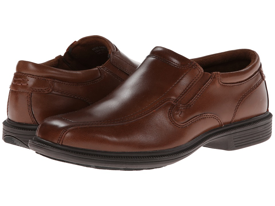 Nunn Bush Bleeker St. Bicycle Toe Slip-On (Cognac) Men