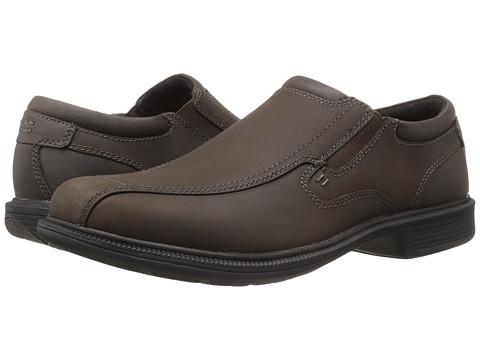 Nunn Bush - Bleeker St. Bicycle Toe Slip-On (Brown Crazy Horse) Men's Slip on Shoes