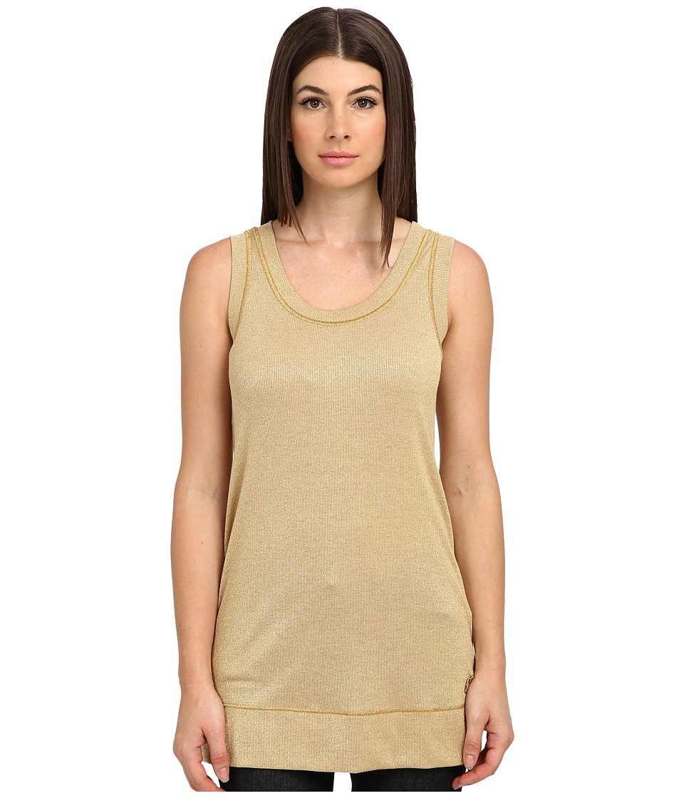 LOVE Moschino - Metallic Sleeveless Tunic (Gold) Women's Sleeveless