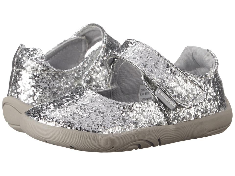 pediped - Delaney Grip 'n' Go (Infant/Toddler) (Silver) Girl's Shoes