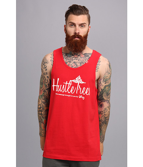 L-R-G - CC Hustle Trees Tank Top (Red) Men