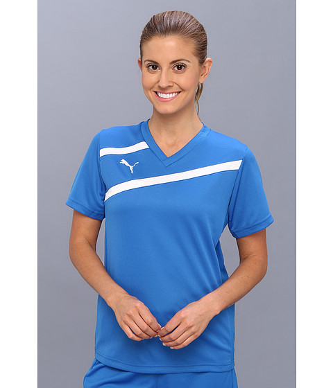 PUMA - Esito Jersey (Puma Royal/White) Women's Short Sleeve Pullover