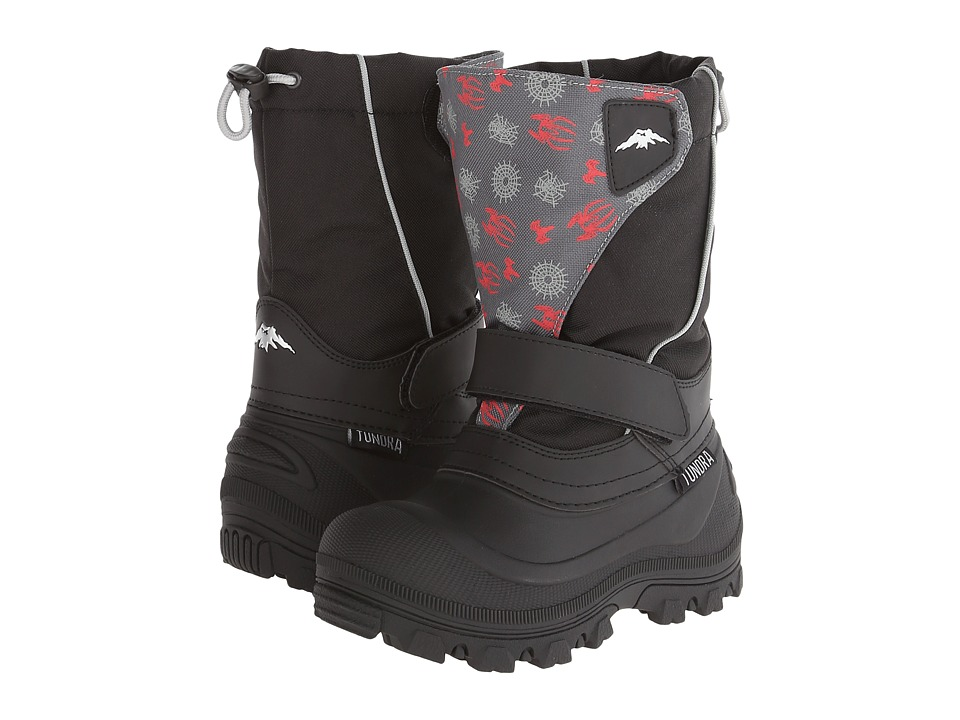 Tundra Boots Kids - Quebec Wide (Toddler/Little Kid/Big Kid) (Black/Spider) Boys Shoes
