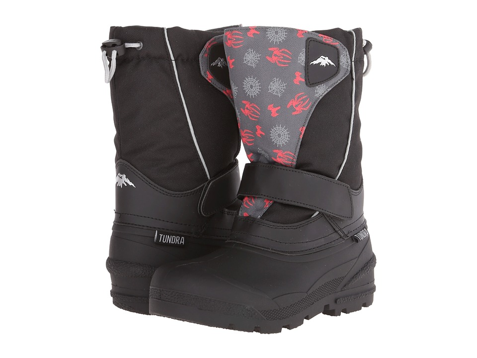 Tundra Boots Kids - Quebec Medium (Little Kid/Big Kid) (Black/Spider) Boy
