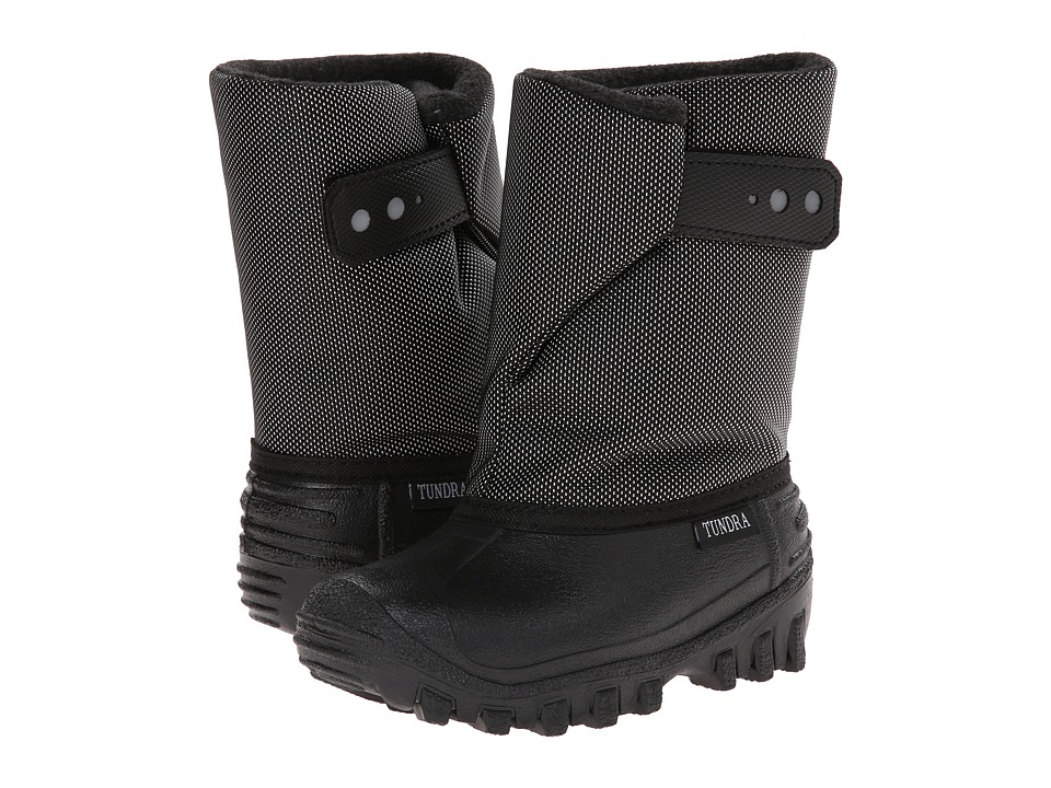 Tundra Boots Kids Teddy (Toddler/Little Kid) (Black/Vancover) Boys Shoes