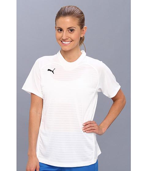 PUMA - Manchester Shirt (White/White) Women's Short Sleeve Pullover