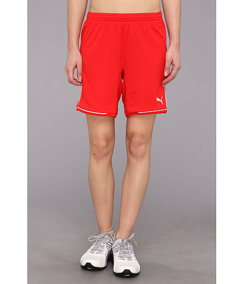 PUMA - Manchester Short (Puma Red/White) Women