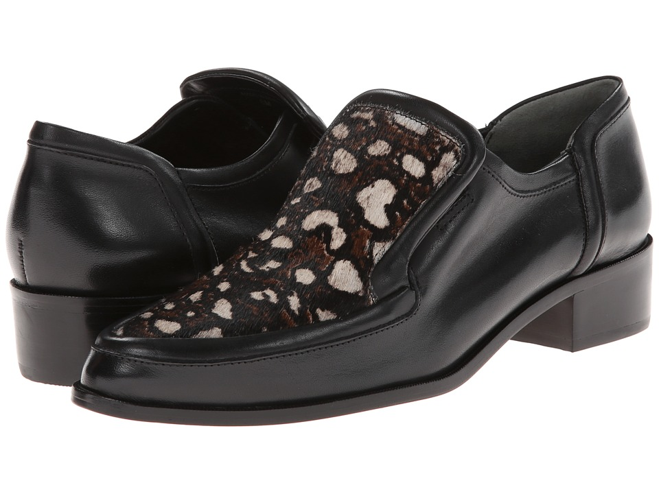 10 Crosby Derek Lam - Dede (Black/White Leopard Haircalf Print/Black Eco Leather) Women