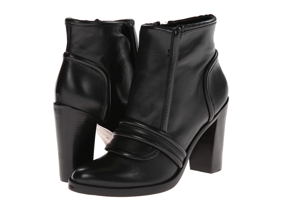 10 Crosby Derek Lam - Margaret (Black Burnished Vacchetta) Women's Zip Boots
