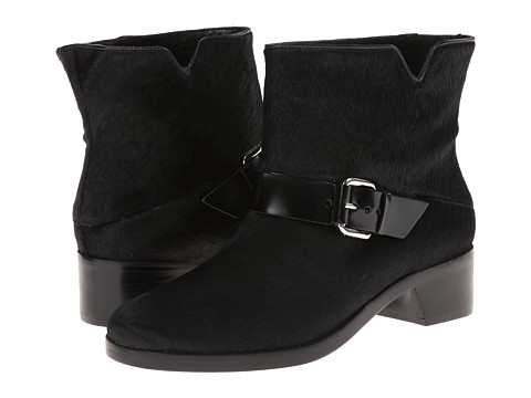 10 Crosby Derek Lam - Charlotte (Black Haircalf/Black Spazzolato) Women's Shoes