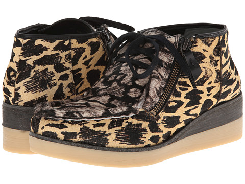 10 Crosby Derek Lam - Ezra (Camel/Black Animal Ikat Haircalf/Black/White Animal Ikat Haircal) Women