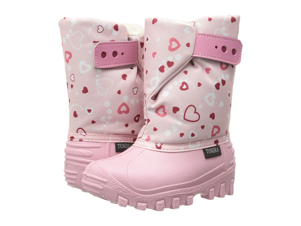 Tundra Boots Kids - Teddy (Toddler/Little Kid) (Pink/Hearts) Girl's Shoes