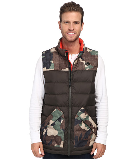 686 - Airflight Polyquilt Vest (Coffee) Men's Vest