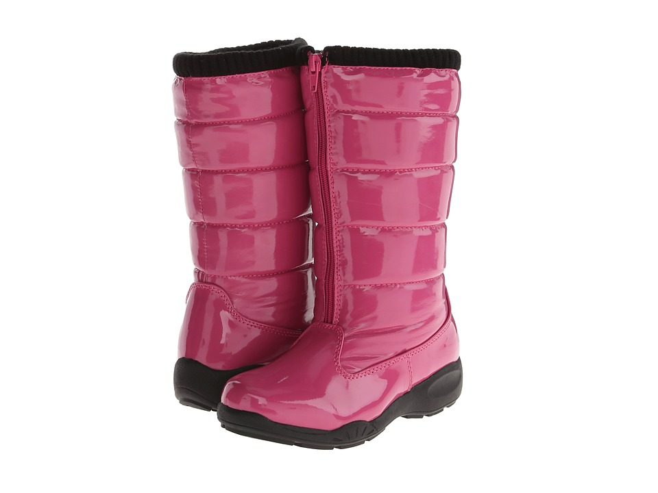 Tundra Boots Kids - Puffy (Little Kid/Big Kid) (Fuchsia) Girls Shoes