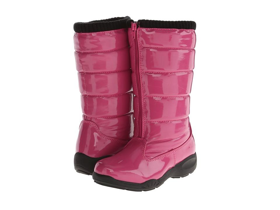 Tundra Boots Kids Puffy (Little Kid/Big Kid) (Fuchsia) Girls Shoes