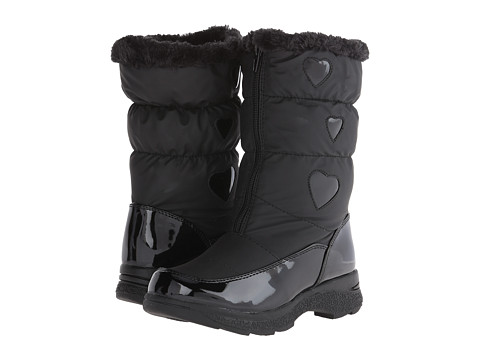 Tundra Boots Kids - Hearty (Toddler/Little Kid/Big Kid) (Black) Girl