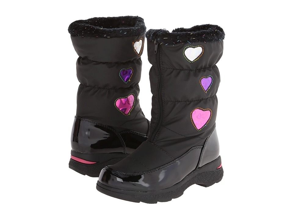 Tundra Boots Kids - Hearty (Toddler/Little Kid/Big Kid) (Black /Hearts) Girl's Shoes
