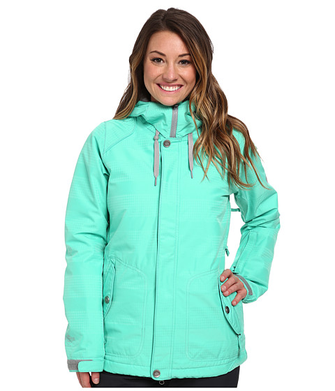 686 - Authentic Splendor Jacket (Seafoam Hndtooth Stripe) Women's Jacket