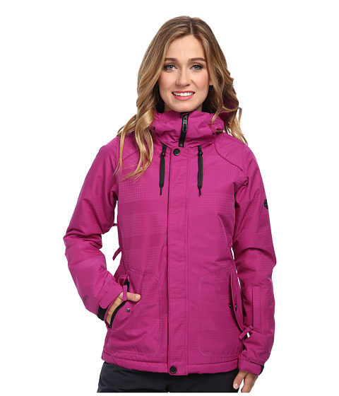 686 - Authentic Splendor Jacket (Light Orchid Hndtooth Stripe) Women's Jacket