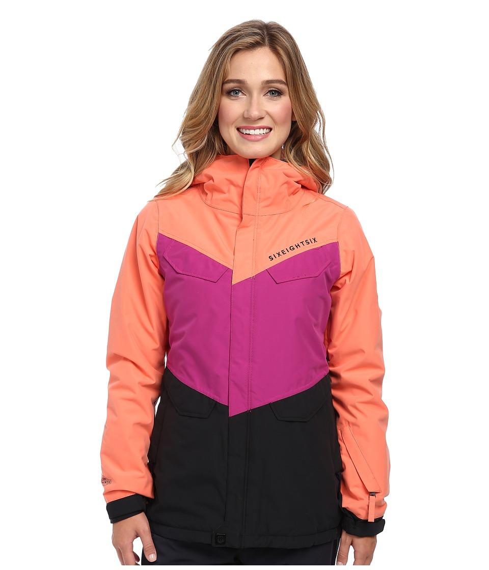 686 - Authentic Annex Jacket (Coral Colorblock) Women