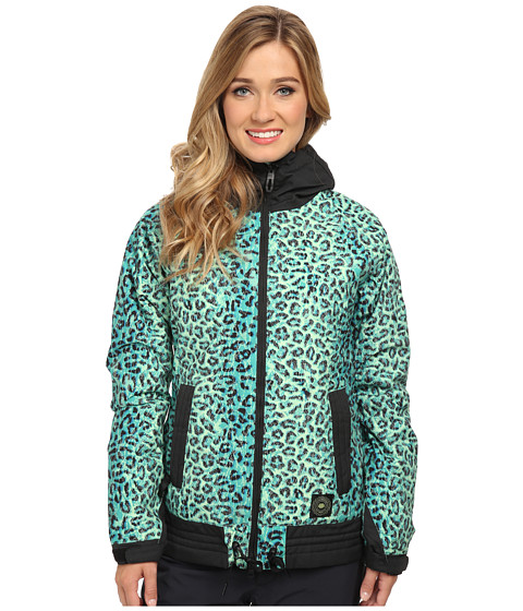 686 - Authentic Lynx Jacket (Emerald Leopard Lace) Women's Jacket