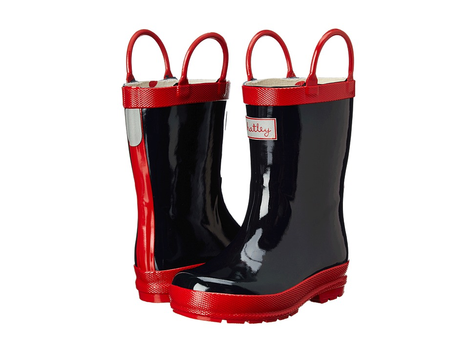 Hatley Kids - Rain Boots (Toddler/Little Kid) (Navy/Red) Kids Shoes