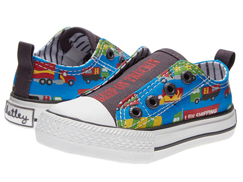 Hatley Kids - Canvas Shoes (Toddler/Little Kid) (Big Rig Trucks) Boys Shoes
