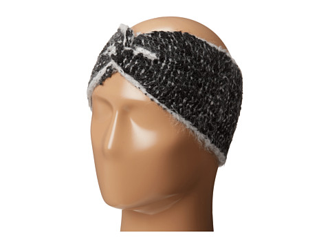 LAUREN by Ralph Lauren - Avenue Tweed Headband (Dark Grey Heather/Black) Headband