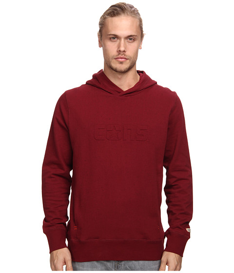 Converse - Donegal Fleece PO Hoodie (Burgundy) Men's Sweatshirt