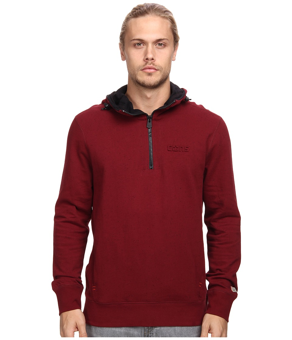 Converse - Donegal Fleece Half Zip (Burgundy) Men's Sweatshirt