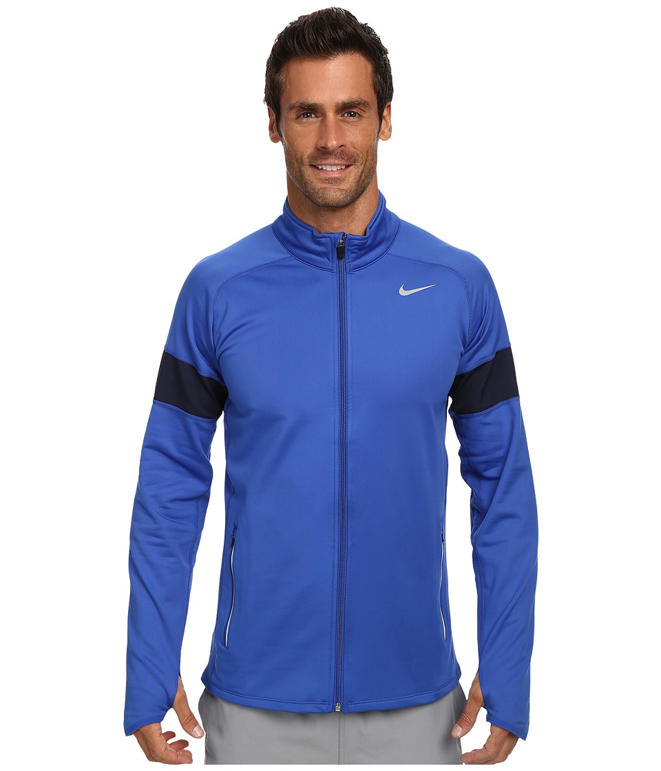 Nike - Element Thermal Full Zip (Game Royal/Obsidian/Reflective Silver) Men's Sweatshirt