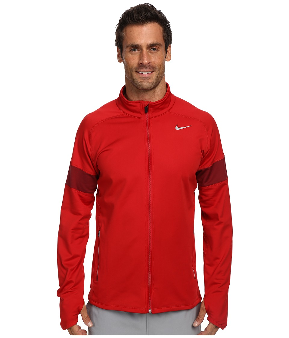 Nike - Element Thermal Full Zip (Gym Red/Team Red/Reflective Silver) Men's Sweatshirt