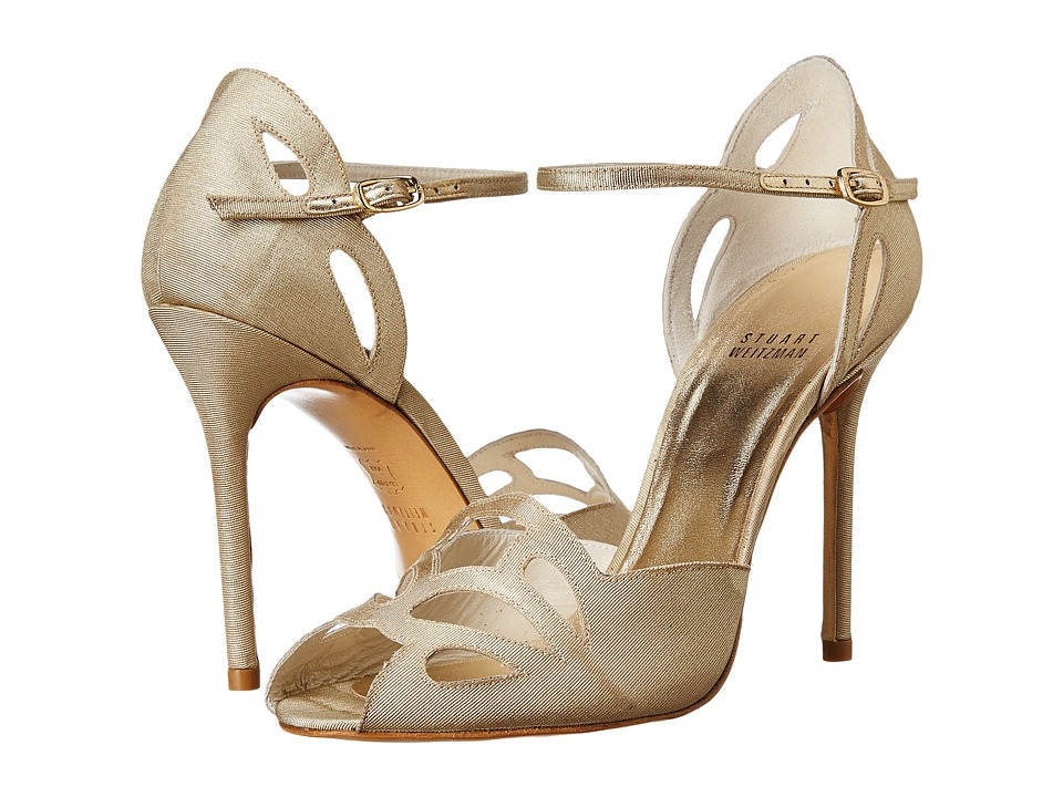 Stuart Weitzman Bridal & Evening Collection Thrill (Beige Moir ) High Heels