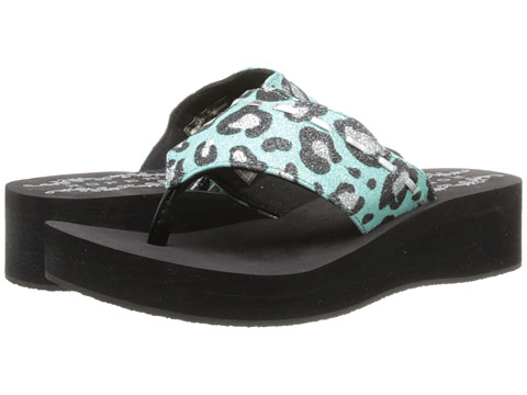 Roper Kids - Glitter Leopard Print Sandal (Toddler/Little Kid) (Blue/Silver) Girls Shoes