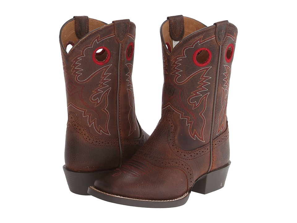 Ariat Kids - Roughstock (Toddler/Little Kid/Big Kid) (Brown Oiled Rowdy) Cowboy Boots