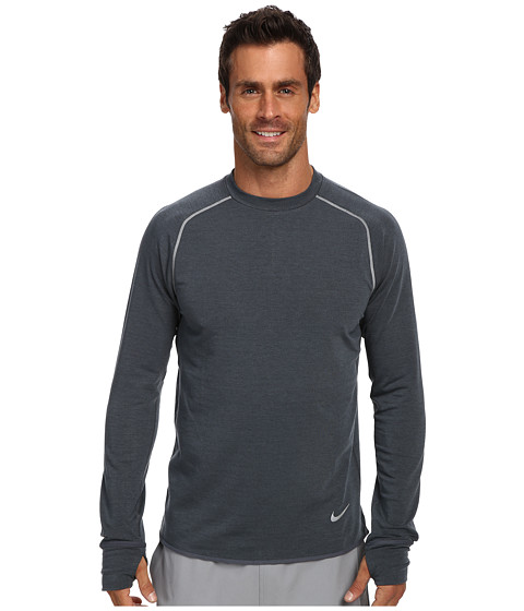 Nike - Dri-Fit Sprint Crew (Dark Magnet Grey/Heather/Reflective Silver) Men's Long Sleeve Pullover