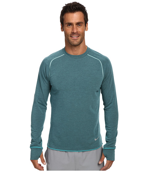 Nike - Dri-Fit Sprint Crew (Catalina/Heather/Reflective Silver) Men