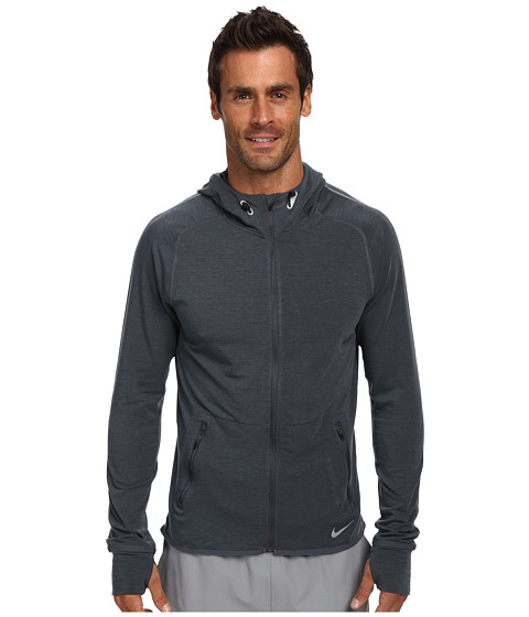 Nike - Dri-Fit Sprint Full-Zip (Dark Magnet Grey/Heather/Reflective Silver) Men's Coat
